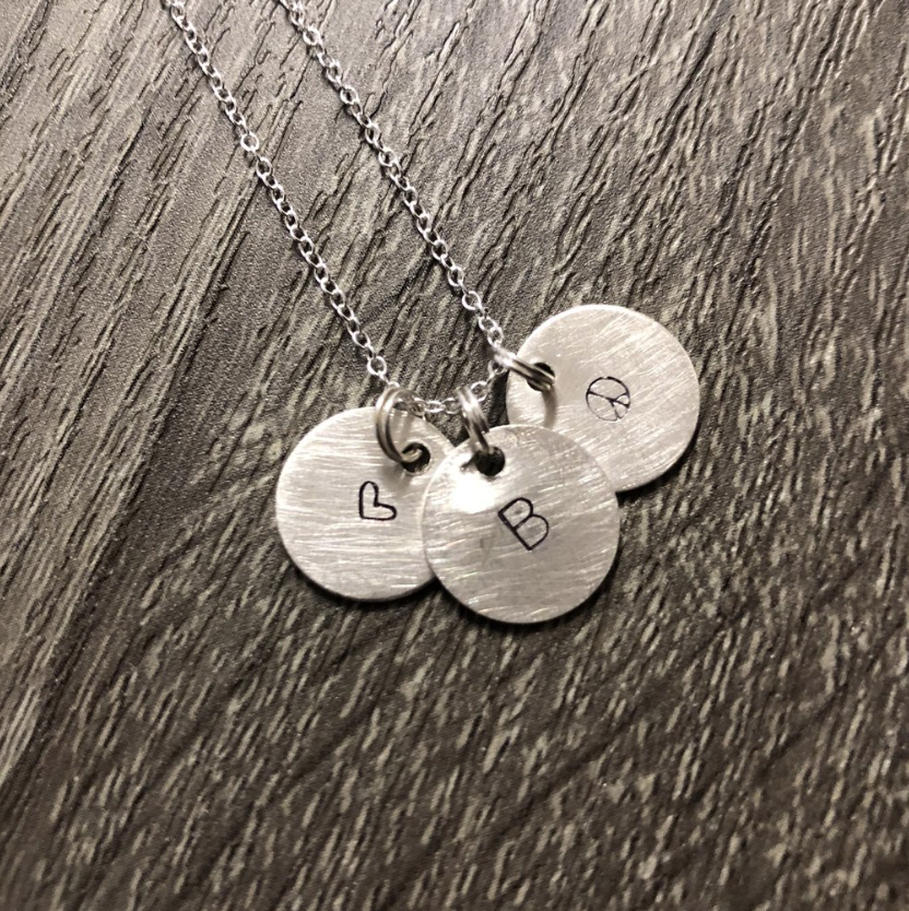 Our First Workshop: Stamped & Textured Charm Necklace