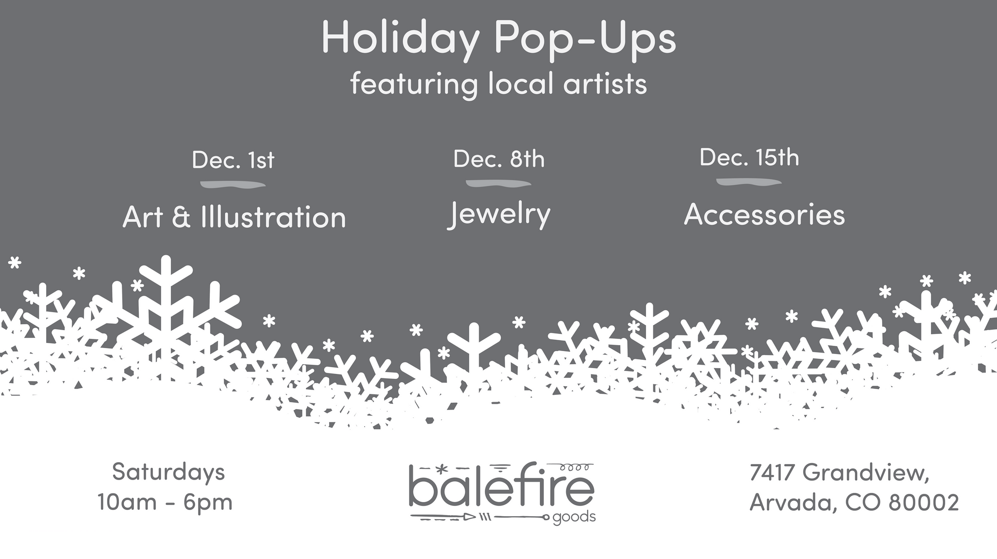 Holiday Pop-Ups with Colorado Makers
