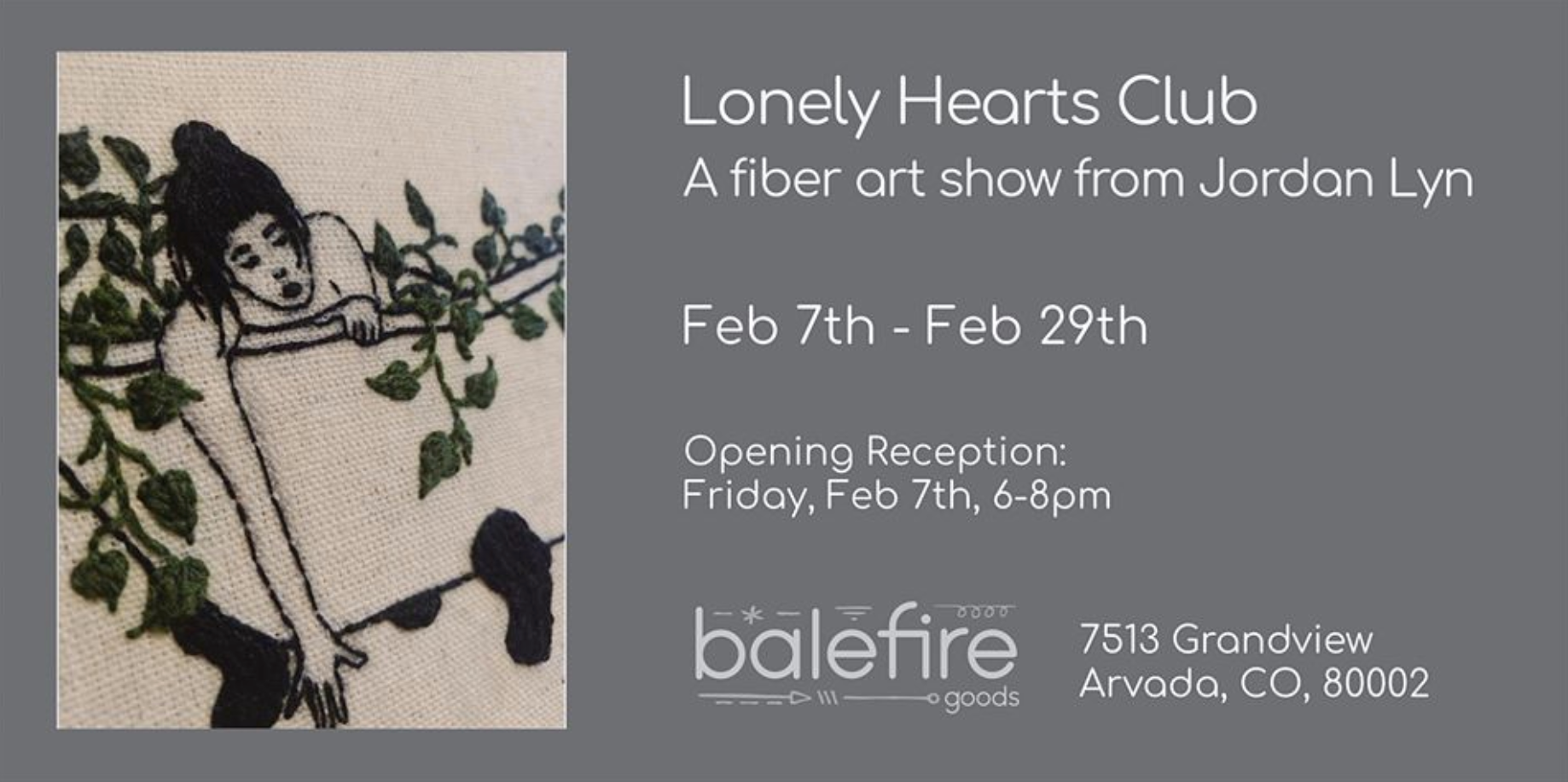 Lonely Hearts Art Show: First Friday