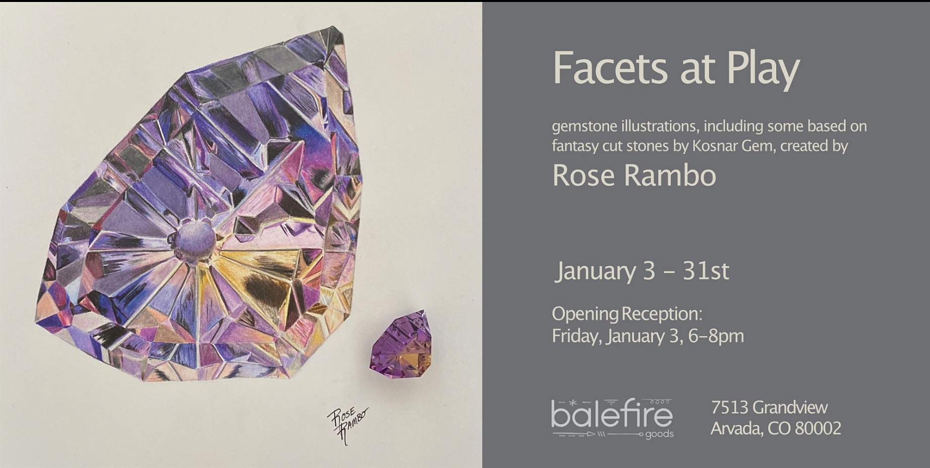 Facets at Play: First Friday Art Opening