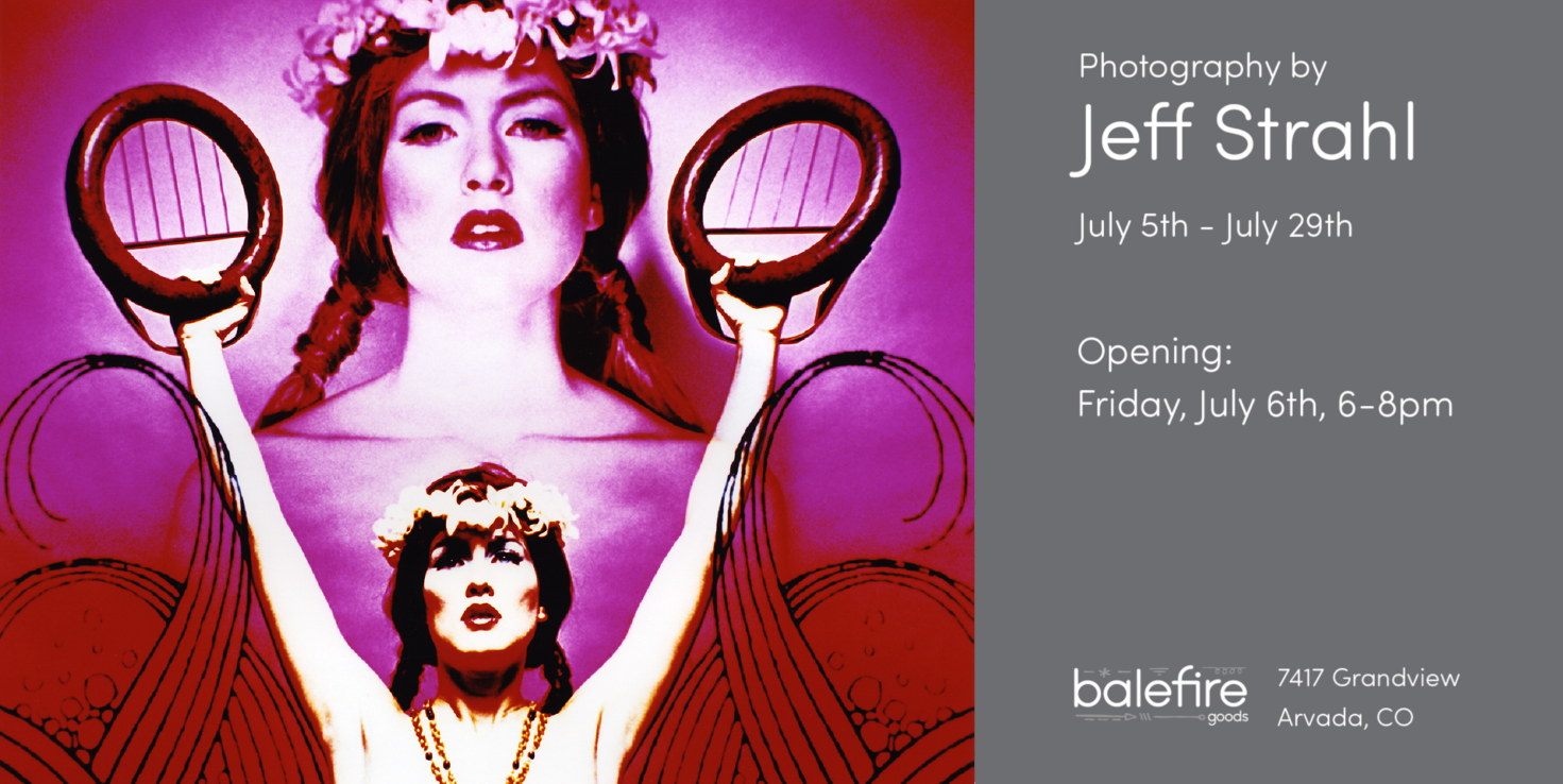 Jeff Strahl's goddess photos art opening flyer