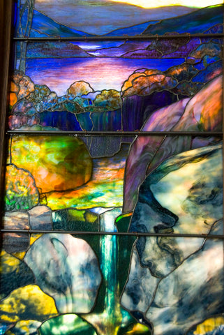Detail of Tiffany Stained Glass Window Autumn Landscape in the Met by Katy Silberger (https://www.flickr.com/photos/katysilbs/3964540196/in/photostream/)