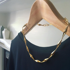 Gold Shapes Necklace