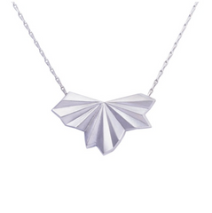 Pleated Silver Necklace