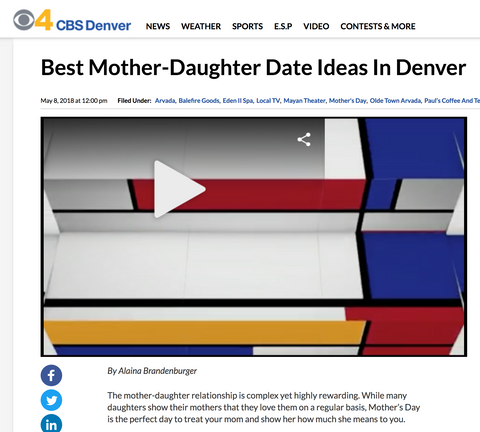 CBS 4 - Mother Daughter Date Ideas