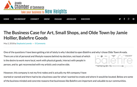 The Business Case for Art, Small Shops, and Olde Town Arvada