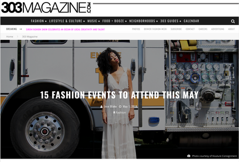 303 Magazine - May Fashion Events