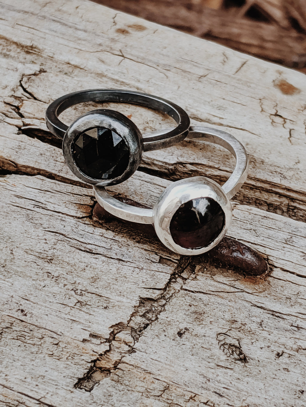 Gemstone and Silver Ring