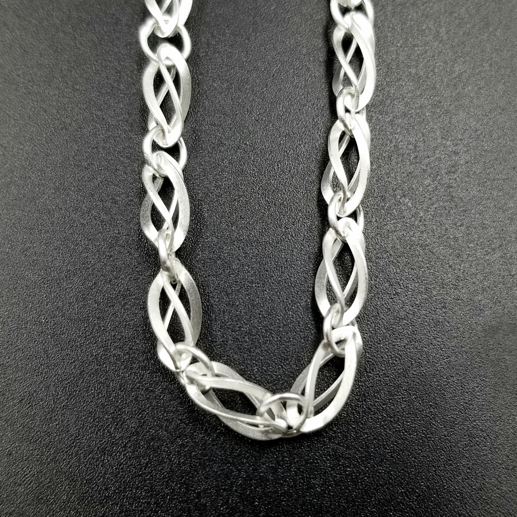 Helix Twisted Silver Chain