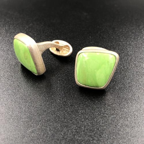 Gaspeite Cuff links
