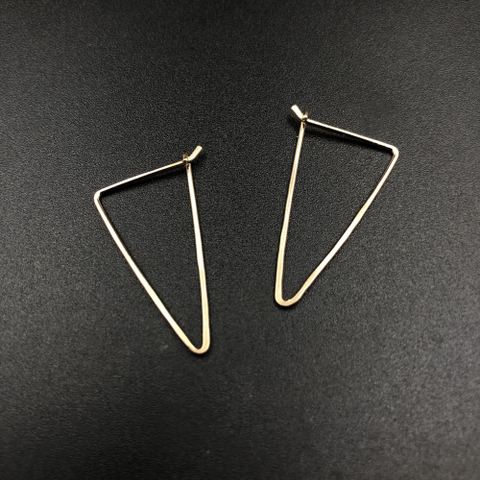 Hammered Triangle Earrings Silver