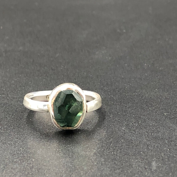 Tourmaline Bezel Set Ring