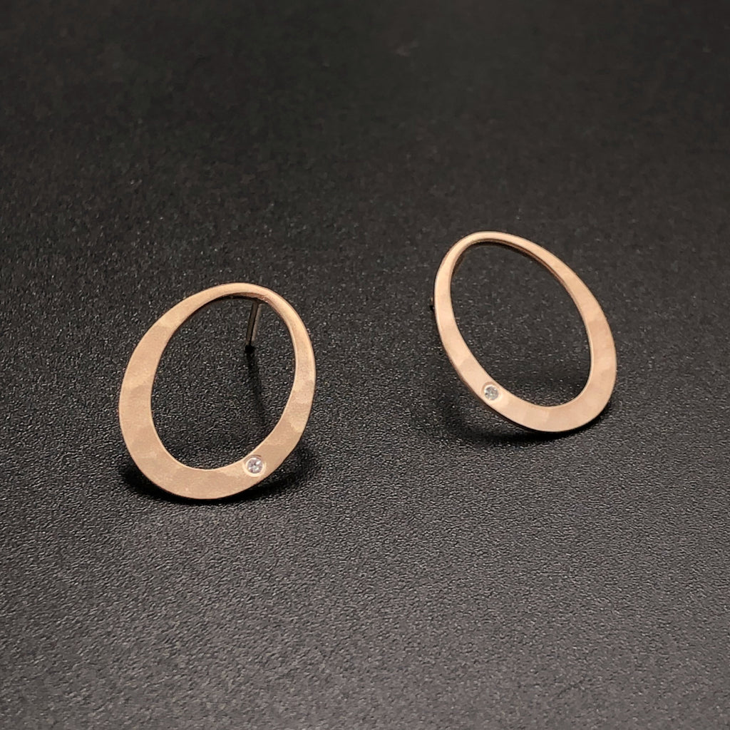 Petite Oval Post Earrings