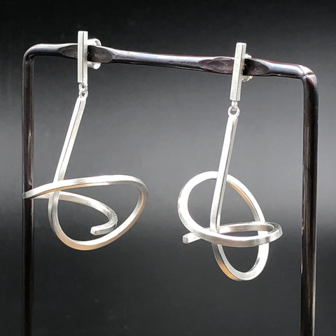 Swirled Line Earrings