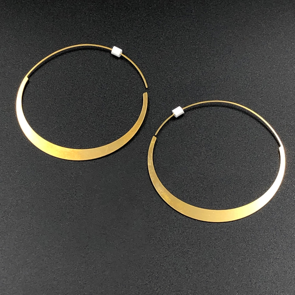 Large Round Hoops - Gold