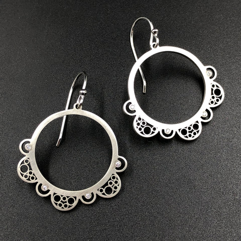 Medium Mandala Dangle Earrings