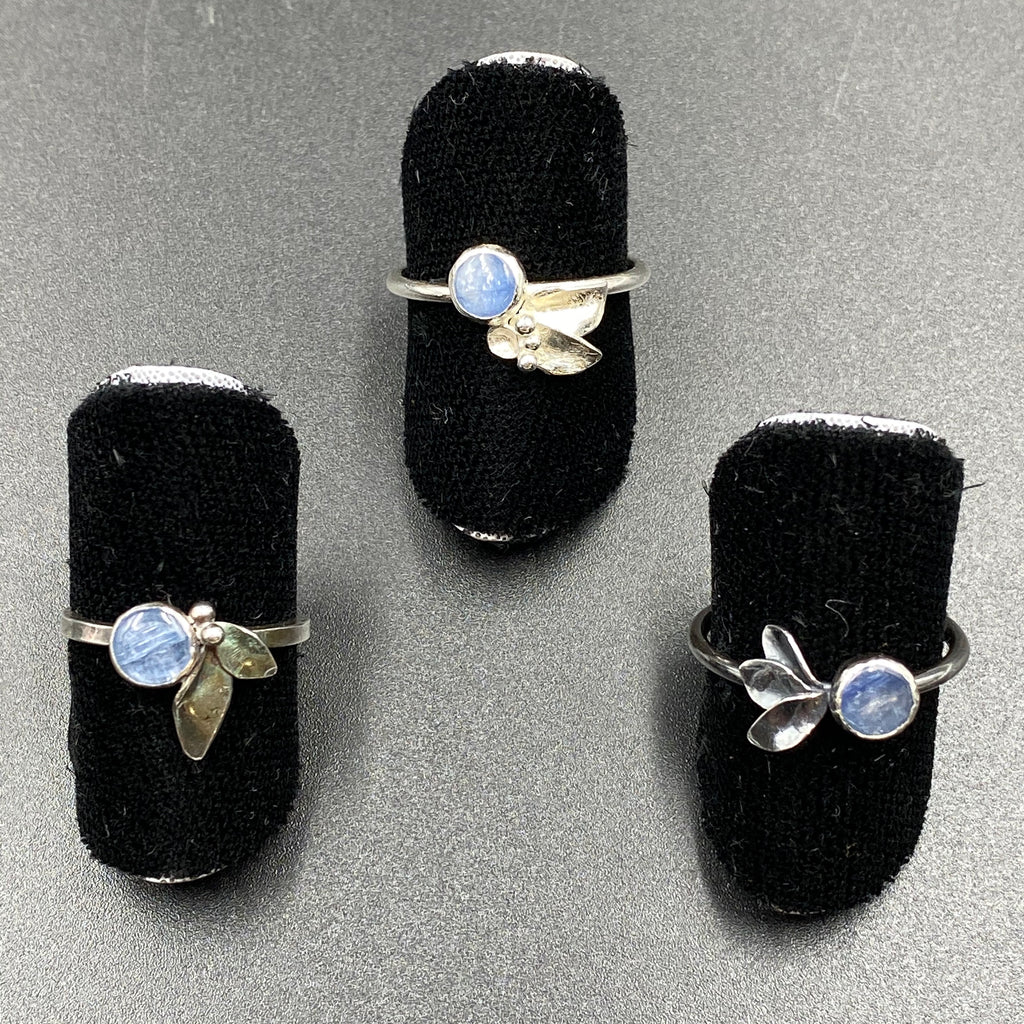 Kyanite Flora Rings