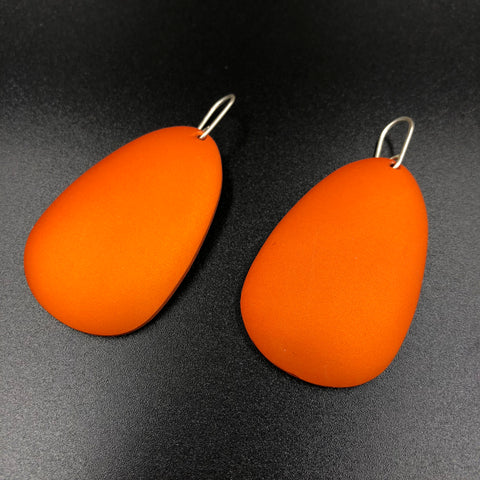 Large Antilla Earrings - Orange