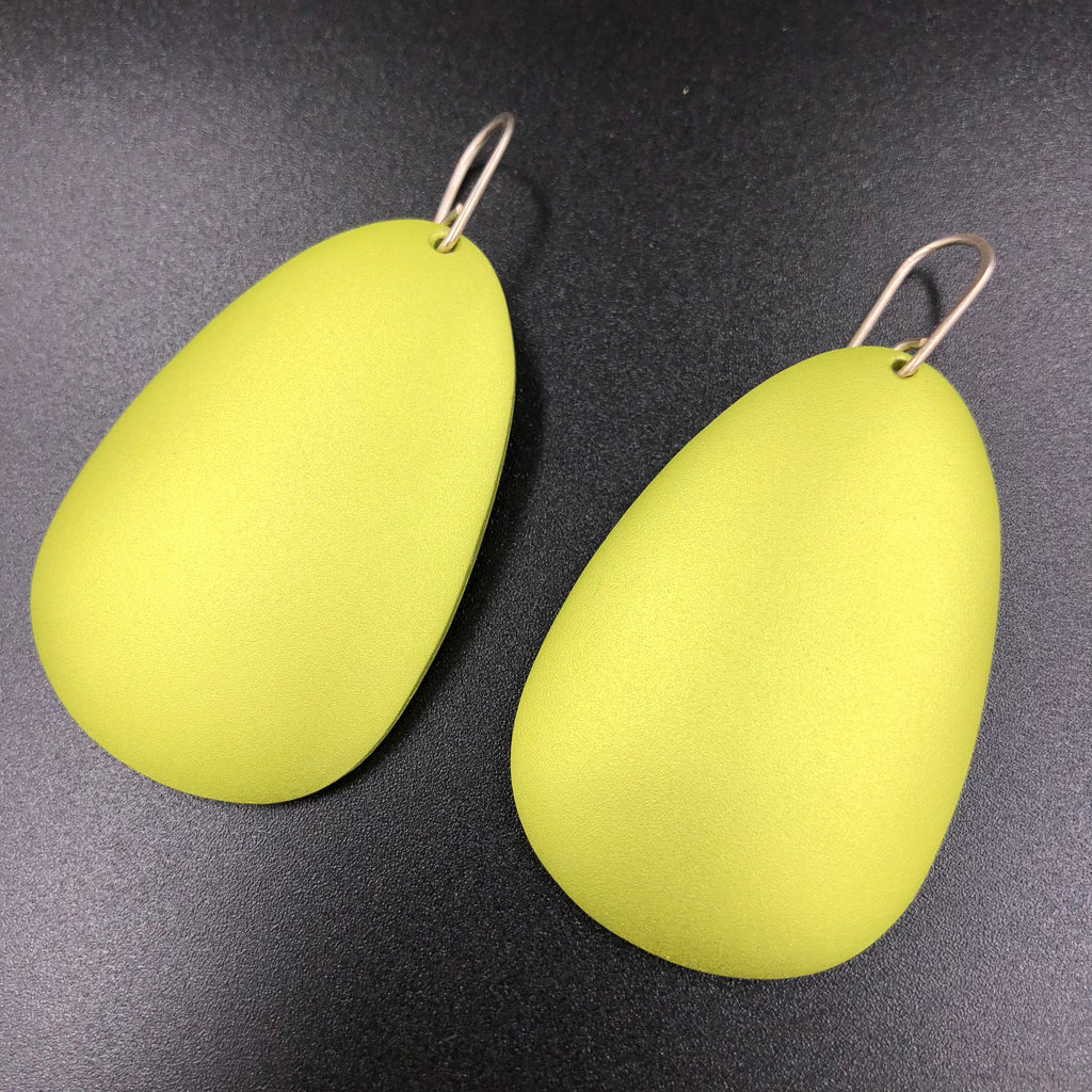 Large Antilla Earrings - Lime