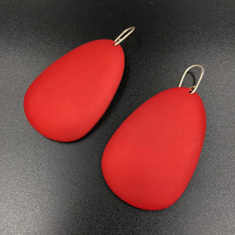 Large Antilla Earrings - Red