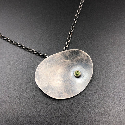Oval Necklace w/ Peridot