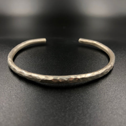 Hammered Thin Cuff Bracelet