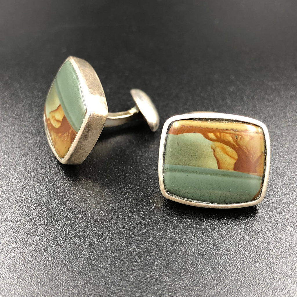 Picture Jasper Cuff Links
