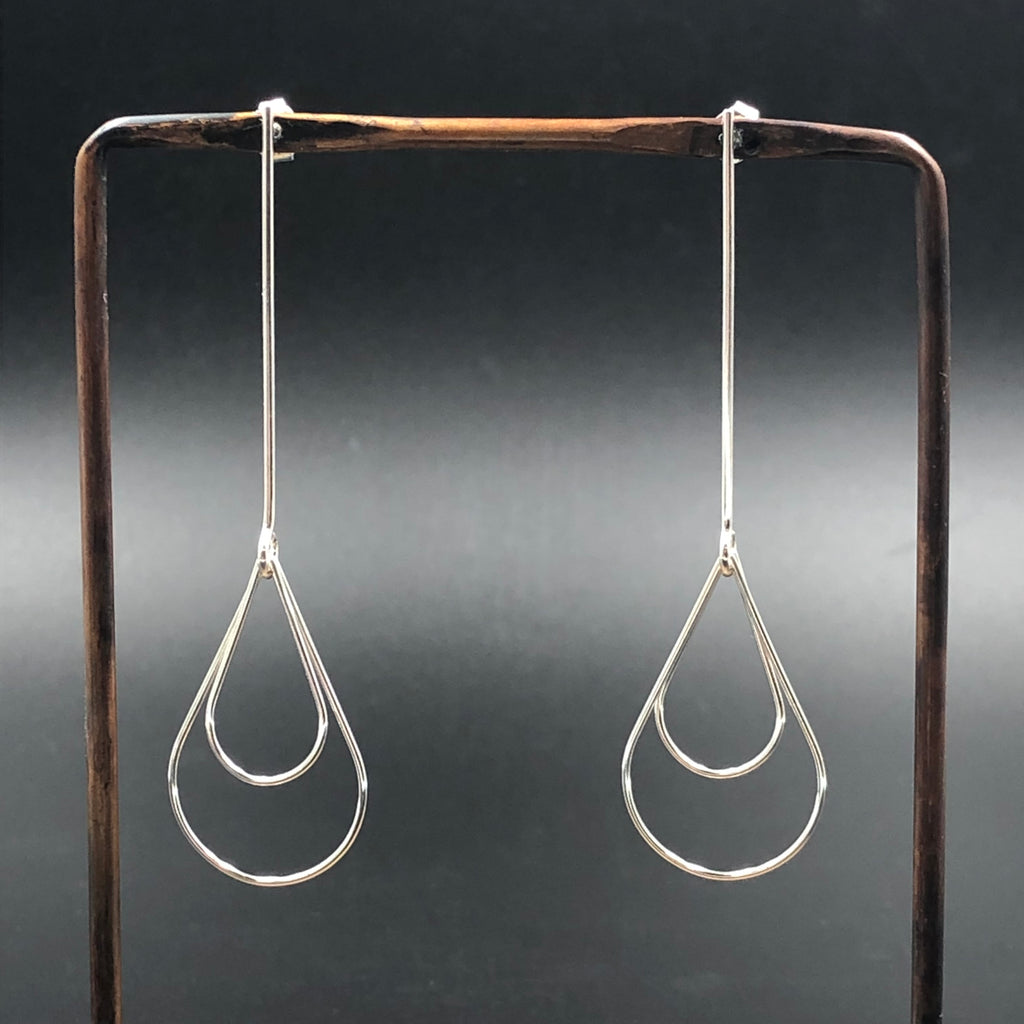 Double Tear Drop Earrings