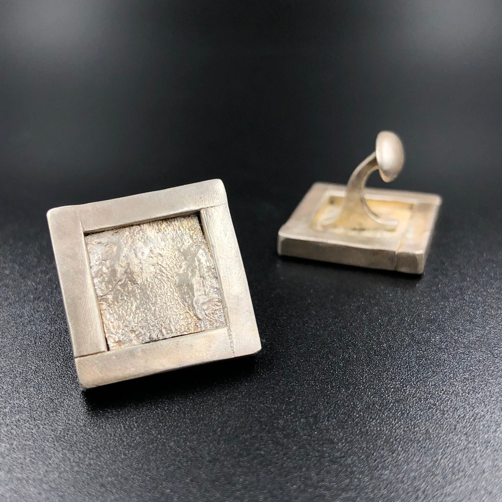 Reticulated Silver Cufflinks