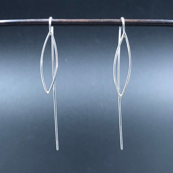 Small Narrow Leaf Earrings