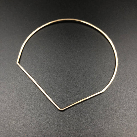 Square Sided Crescent Bangle
