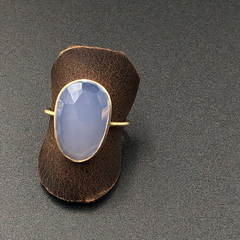 Rose Cut Chalcedony Ring