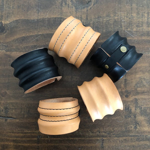 Artisan Molded Leather Cuff Bracelet