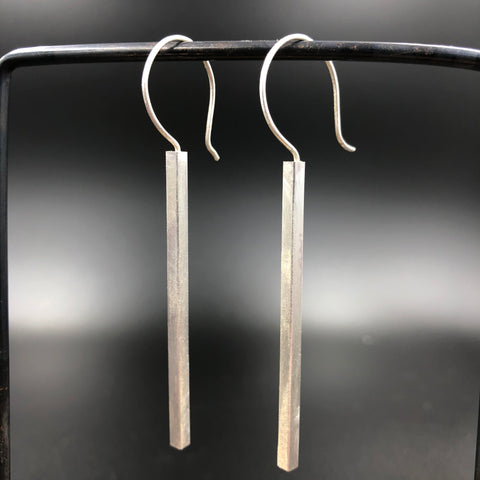 Square Long Bar Hook Earrings