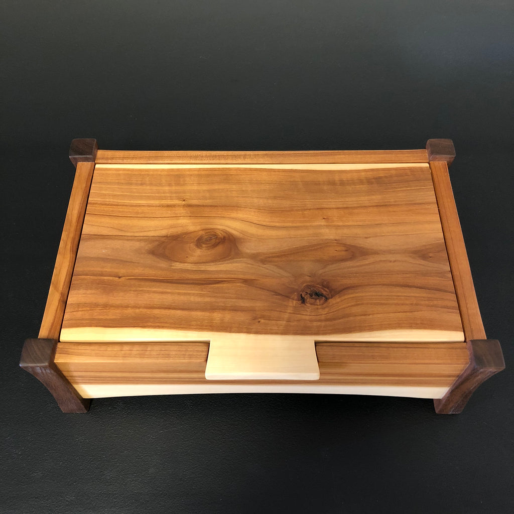 Jewlery Box with Legs: Applewood & Walnut