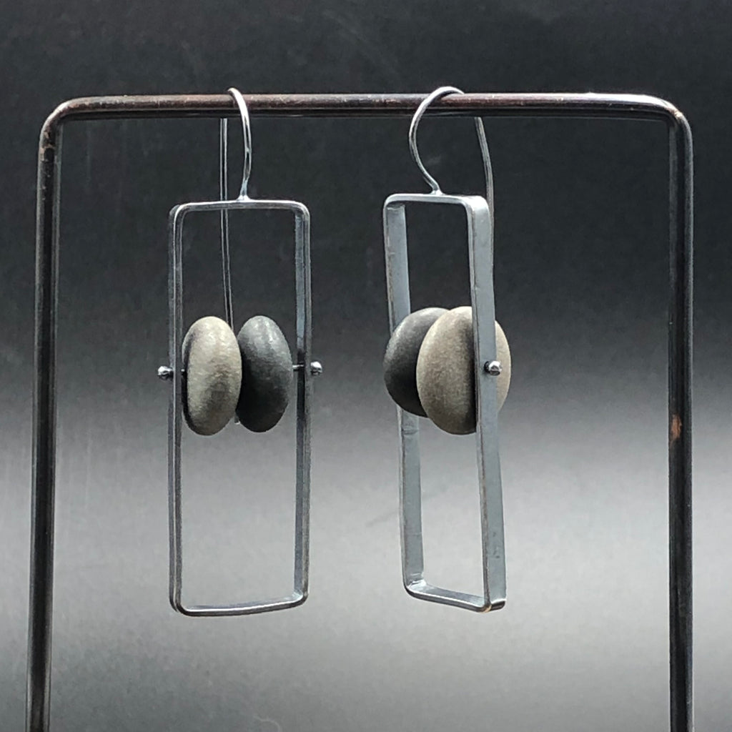 Framed Rocks Earrings