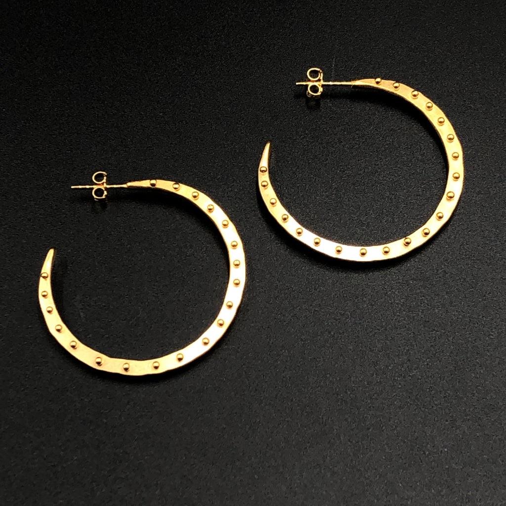 Full Dot Hoops in Gold Vermeil