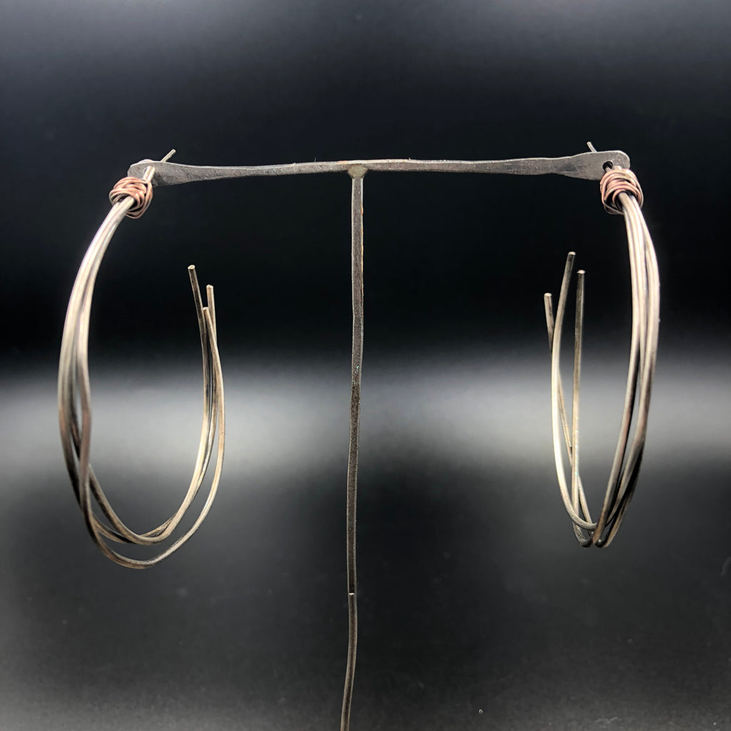 Multi-Strand Hoops with Post