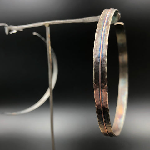 Copper Line Hoop Earrings