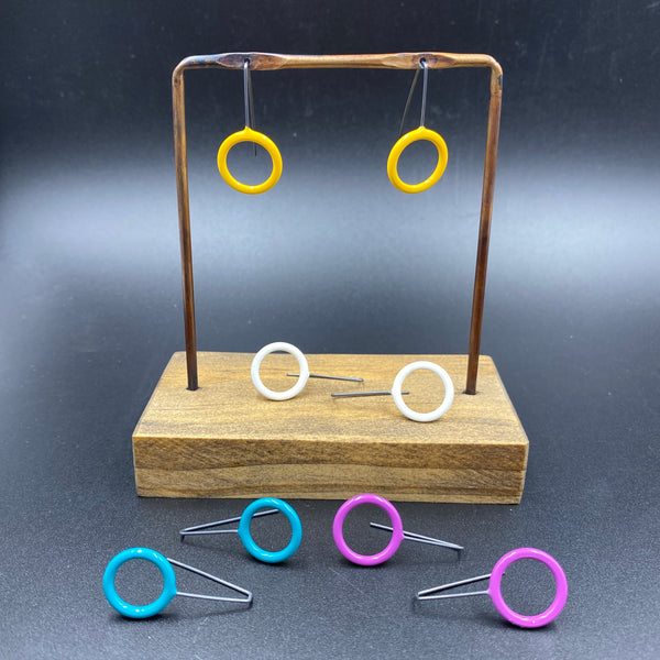 Suspended Circle Earrings