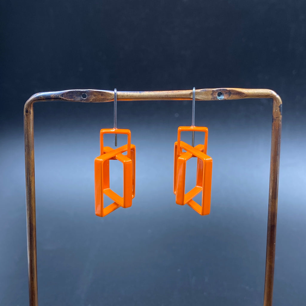 Offset Squares Earrings - Small