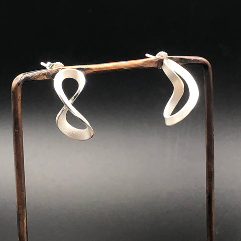 Infinity Swirl Post Earrings