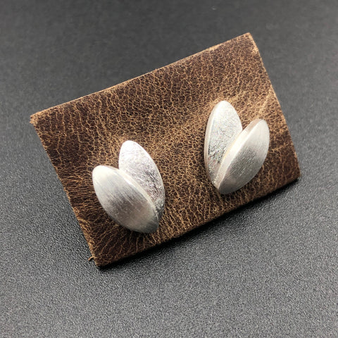 Small Double Leaf Post Earrings