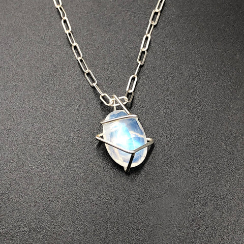 Moonstone Geo Gem Necklace