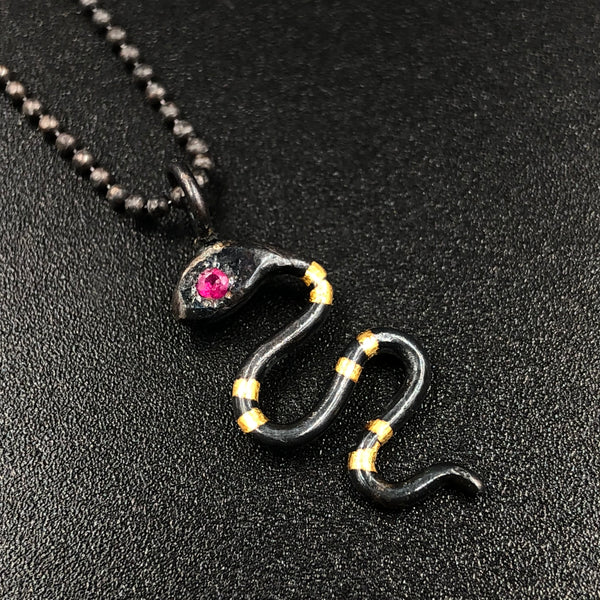 Snake Pendant with Ruby