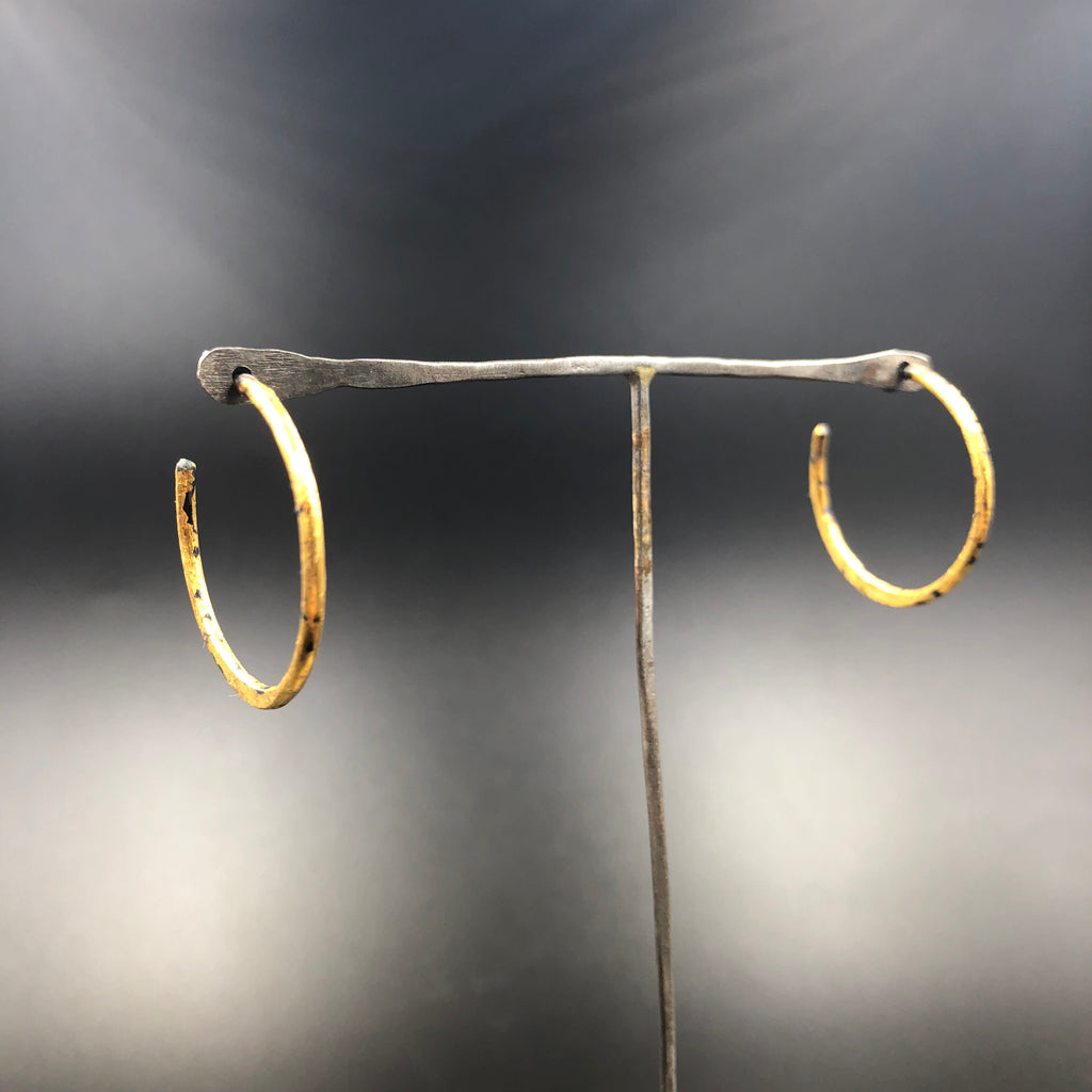 Small Gold Sickle Hoops