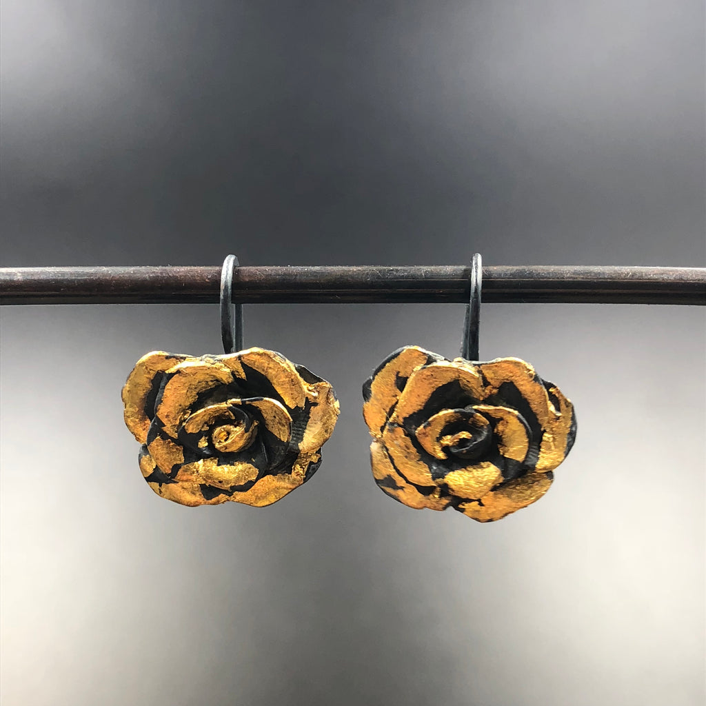 Rose Hook Earrings