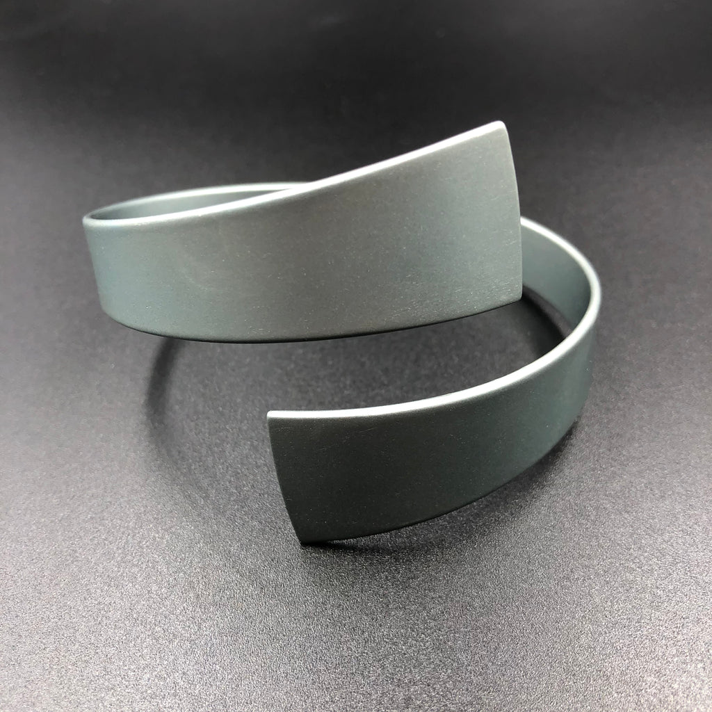 Wrap Bangle - Steel
