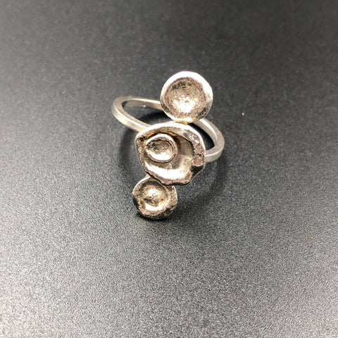 Triple Water Cast Ring