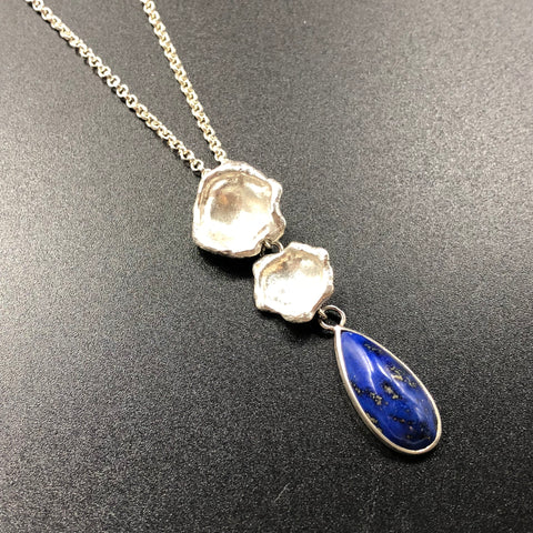 Lapis Water Cast Pendant